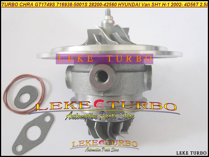 Turbo cartridge CHRA Core GT1749S 716938-0001 716938-5001S 28200-42560 716938 For HYUNDAI Starex H-1 Van D4BH 4D56T 4D56 2.5L