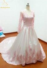 Bealegantom Long Sleeves Sexy Lace V-neck Ball Gown Wedding Dresses 2019 Appliques Bridal Gowns Robe De Mariee QA1202