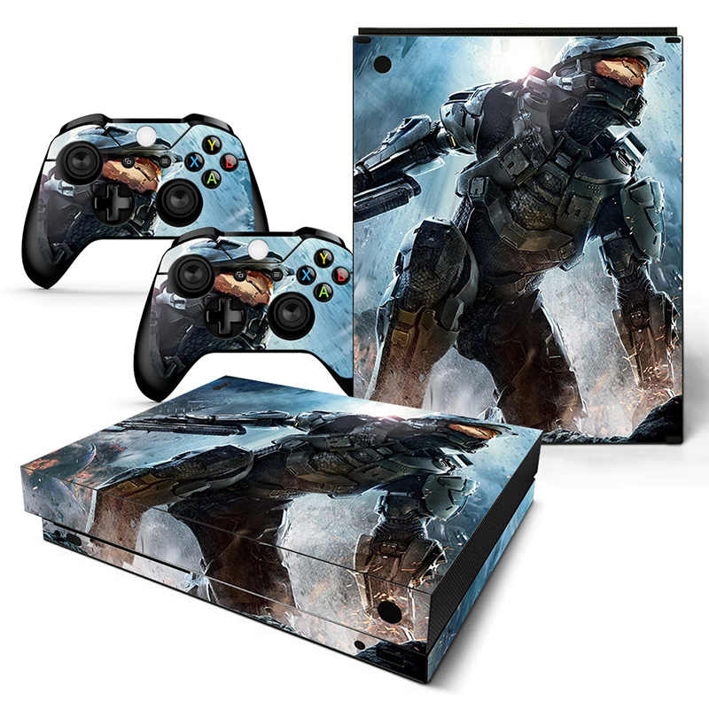Drop Shipping PVC Cover Skin Sticker for Xbox one X Console and Controllers