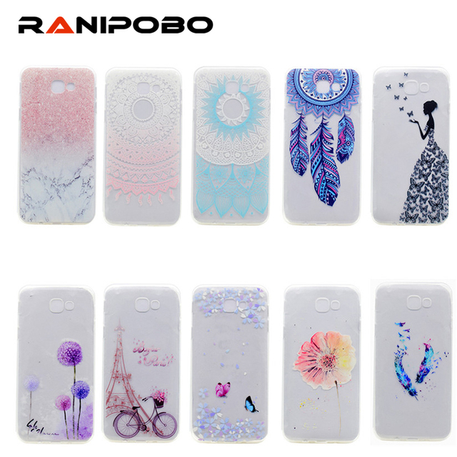 buy popular b0460 51b00 US $1.79  For Samsung Galaxy J5 Prime 2017 Case Transparent TPU Cover  Marble Rock Flower Girl Case For Samsung J5 Prime 2017-in Fitted Cases from  ...