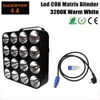 2Pcs Lot Hi Quality Led Matrix Light Warm White 16Pcs 30W COB DMX Led Matrix Blinder