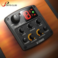 Cherub Guitar Preamp Piezo Pickup 3-Band EQ Equalizer LCD Tuner with Reverb/Chorus Effects for Acoustic Guitar