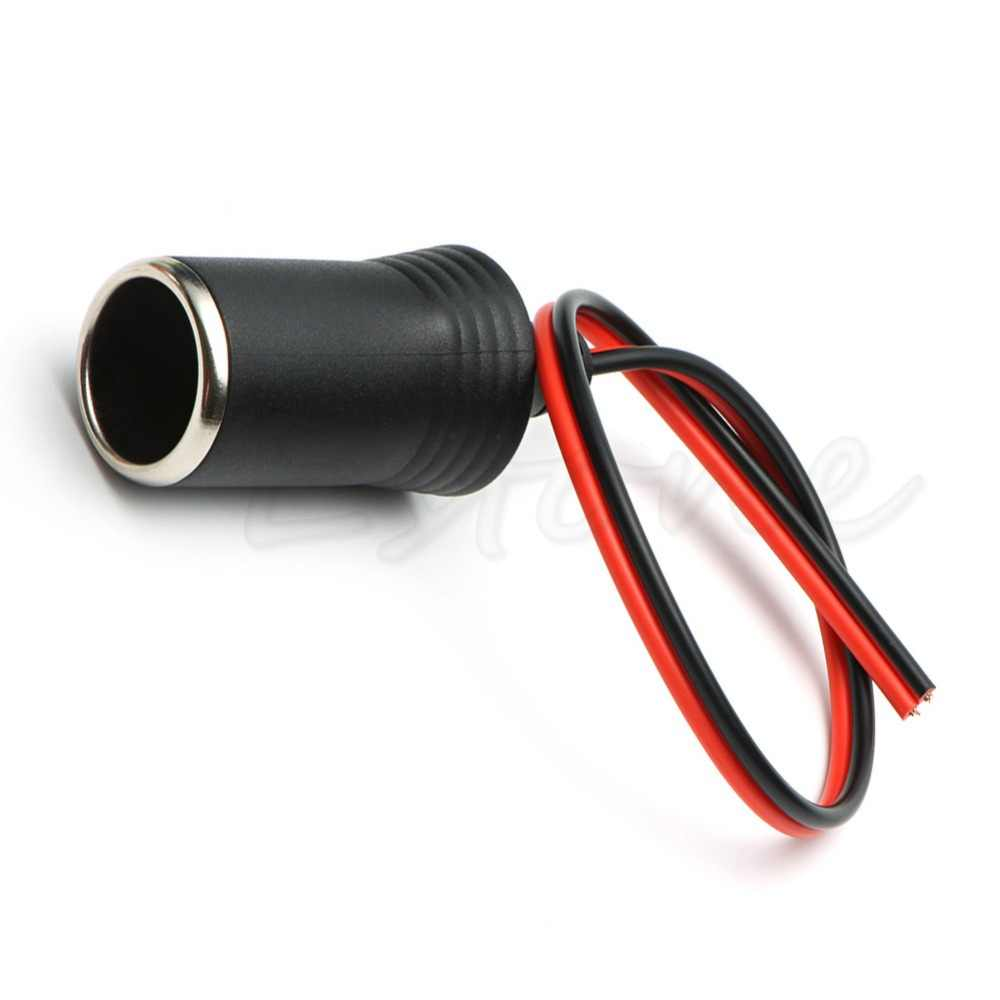 High Quality 12V-24V DC Female Auto Car Cigarette Lighter Socket Plug Connector Adapter Cable