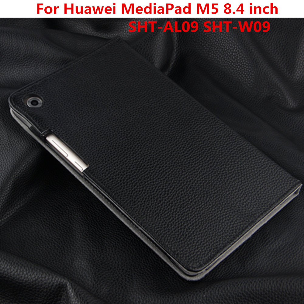 Luxury Business Cowhide Genuine Leather Case Protective Cover For Huawei MediaPad M5 8.4 inch SHT-AL09 SHT-W09 Tablet PC Cases silicone with bracket flat case for huawei mediapad m5 8 4 inch