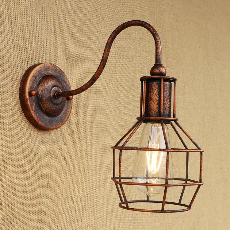 купить Industrial Loft Style Vintage Wall Lamp Iron Bedside Wall Light Fixtures Living Room Stairs Edison Wall Sconce Indoor Lighting недорого