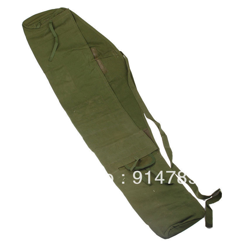 Costume Props Surplus Vietnam War Chinese Military Pla 56 Type Canvas Gun Case Bag Pouch-33343