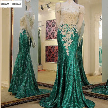 DREAM BRIDALS Jade Green Mermaid Beading Lace Dresses 2019