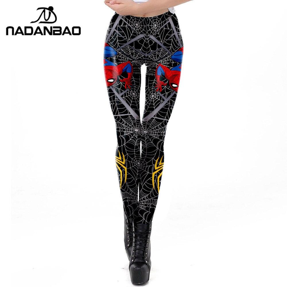 NADANBAO 2019 Spring Spiderman   Leggings   Women 3D Spider Web Printed Workout   Legging   Flexible Fitness Leggins Puls Size Legins