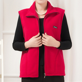 UHYTGF 2018 New Fleece Women Vests Autumn Korean Plus size Sleeveless Jackets Ladies Fashion Zipper Casual Waistcoat Female 442 11
