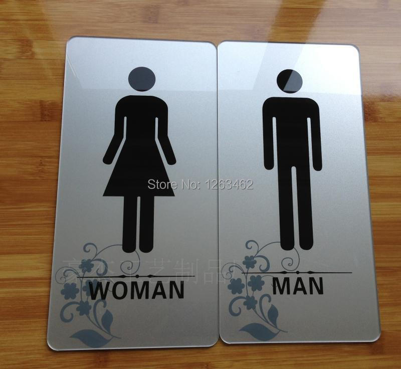 Acrylic Bathroom Toilet Signs Toilet Signs Signage Signs Male And - Male bathroom sign
