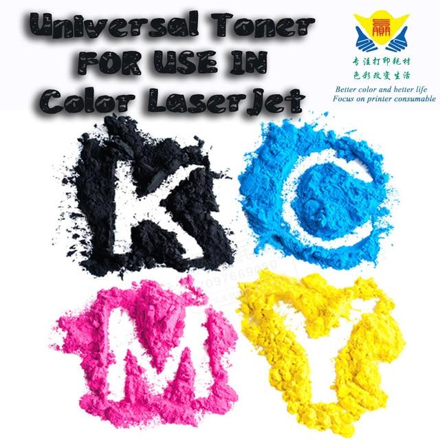 JIANYINGCHEN compatible color refill universal toner powder For HP color LaserJet 5500 and more laser printer 100Gx4