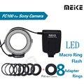 Комплект светодиодных макро-кольцевых вспышек Meike MK-FC100 5500K для Sony A100 A200 A230 A290 A300 A330 A350 A380 A390 A450 A500 A550 A560