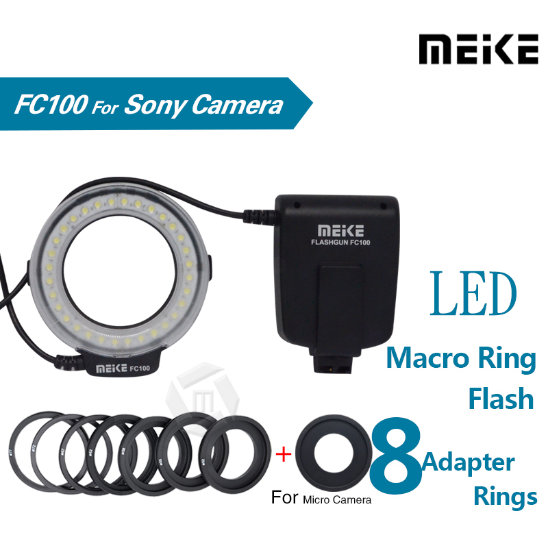 Meike MK-FC100 5500K LED Macro Ring Flash Light Kit for Sony A100 A200 A230 A290 A300 A330 A350 A380 A390 A450 A500 A550 A560Meike MK-FC100 5500K LED Macro Ring Flash Light Kit for Sony A100 A200 A230 A290 A300 A330 A350 A380 A390 A450 A500 A550 A560