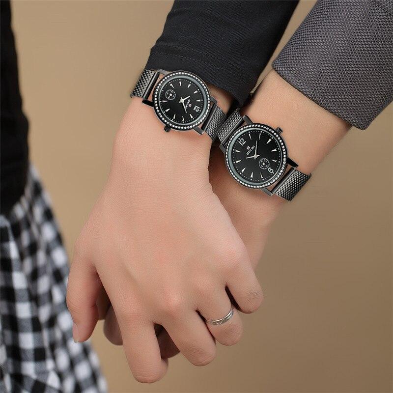 Belbi del acero inoxidable amantes del diamante relojes movimiento de  cuarzo cesta oro reloj de la marca de lujo mujeres de los hombres reloj de  la marca en ... 6e4cf9e5f721