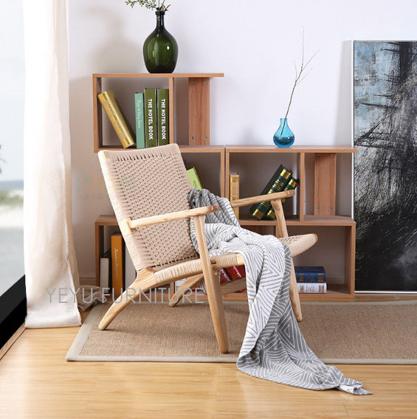 Modern Design Solid Wooden Living Room Lounge Arm Chair Ash Solid