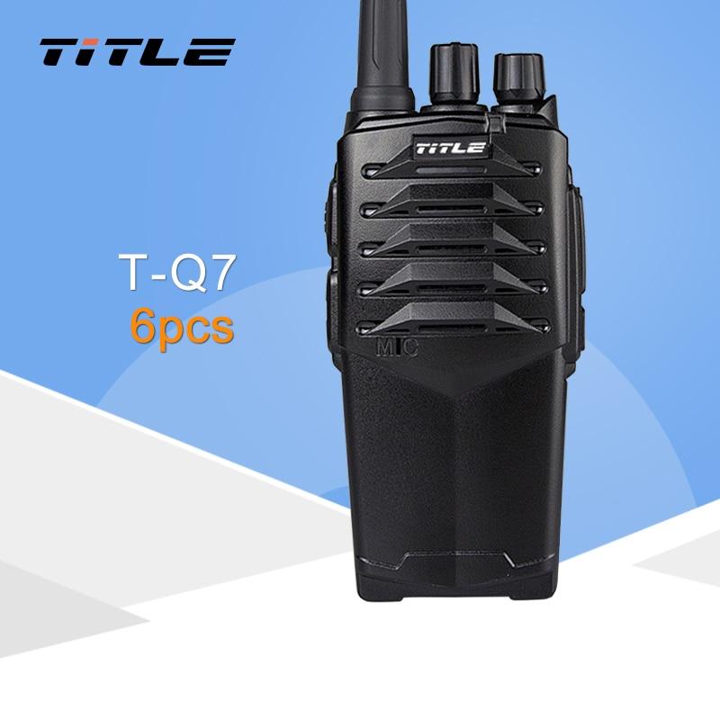 (6 PCS) Two Way Radio KSUN T-Q7 Drop The Waterproof Hotel Road Three 10W Power Proofing Walkie Talkie
