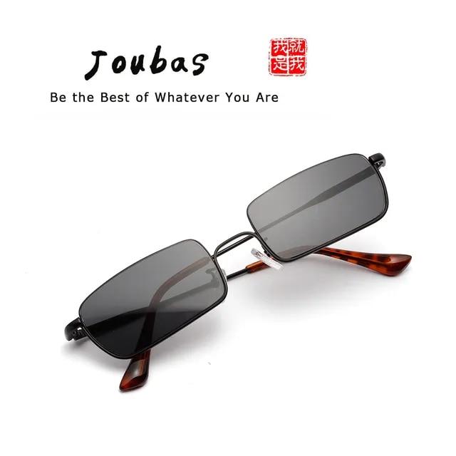 Joubas Steampunk Sunglasses Women/Men 2019 Rectangle Small Half Frame Red Sun Glasses Vintage Fashion Brand Designer Shades 130