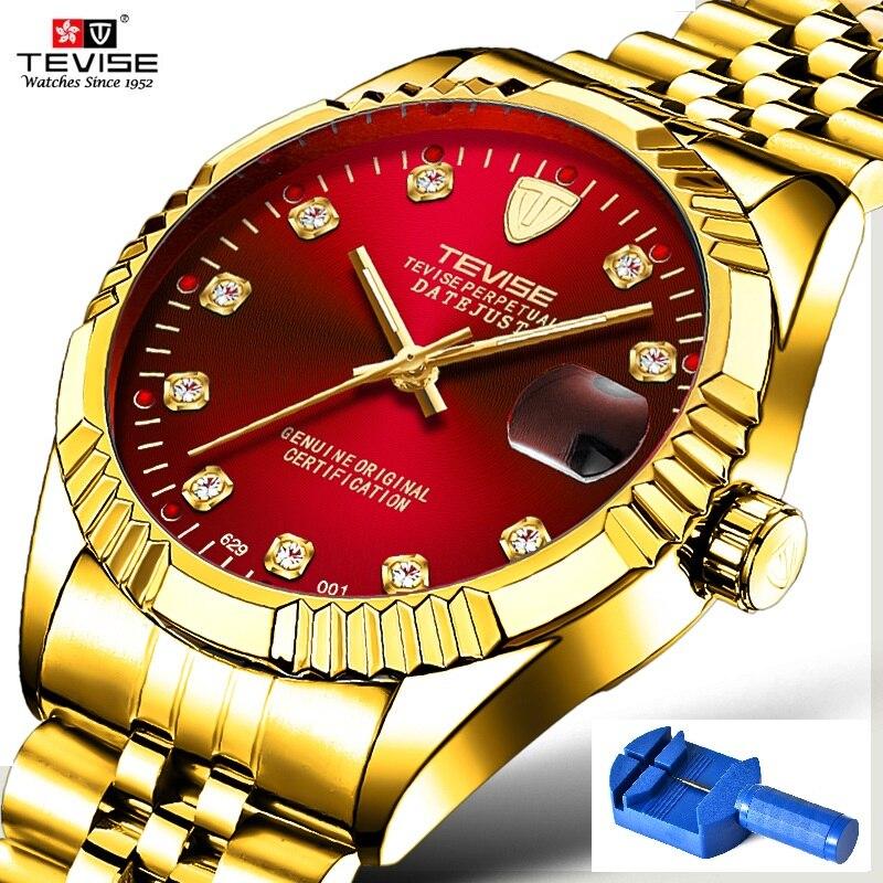 Men Watch TEVISE 629 Automatic Watch Waterproof Business Date Mechanical Men's Watches Diamond Luminous Hands Wristwatches все цены