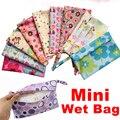 Reutilizables Bolsa de Pañales Bolsa Impermeable Pequeño Mini Wet Dry Para Menstrual Pads Enfermería Almohadillas Cochecito de Maquillaje Bolsas de Almacenamiento de 28*18 CM
