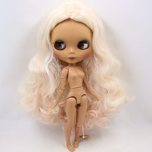 ICY Neo Blythe Doll Blonde Pink Hair Jointed Body 30cm