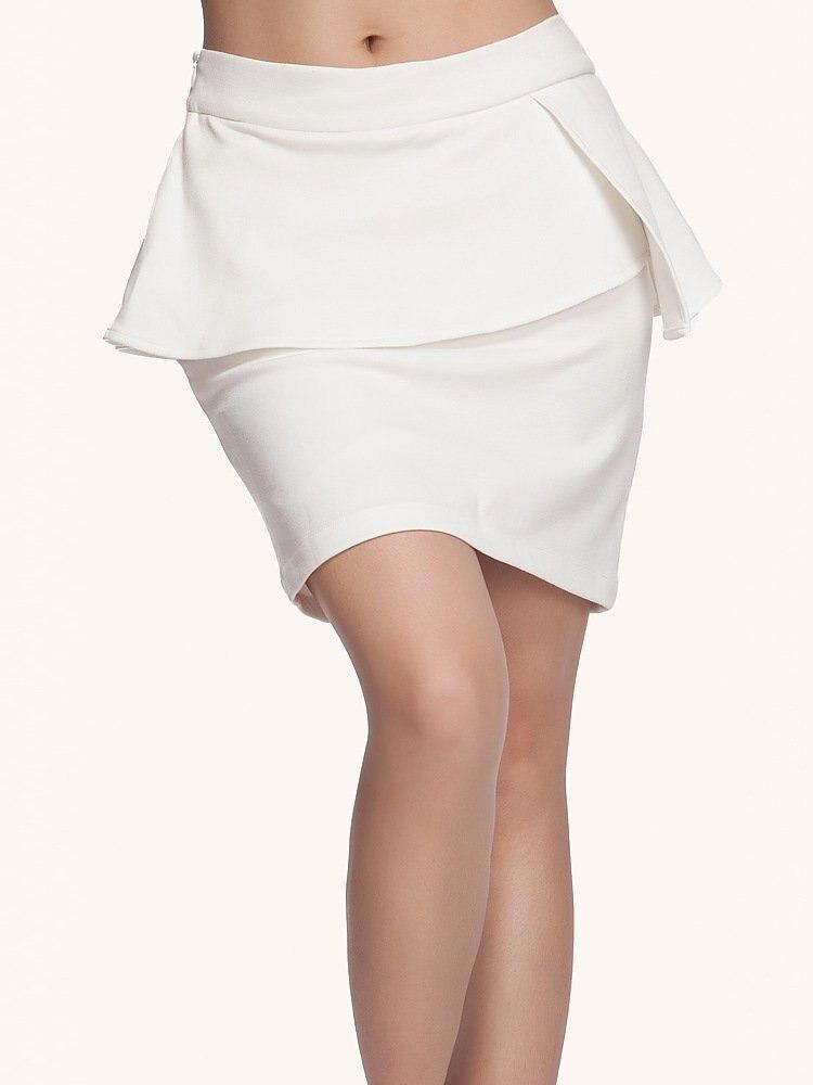 aliexpress buy white peplum skirts brand