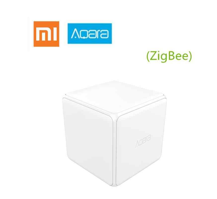 Xiaomi mi Aqara cubo controlador Zigbee versión controlada por seis acciones con aplicación de teléfono para casa inteligente dispositivo TV inteligente hembra