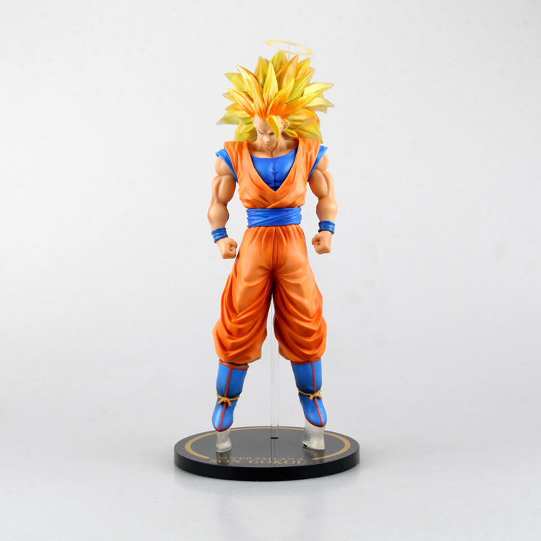 New Japanese Anime Dargon Ball Z Son Goku SUPER SAIYA 3 Model PVC 12 30 CM Dragonball Z Action Figures Collectible Doll Toys 4pcs new for ball uff bes m18mg noc80b s04g