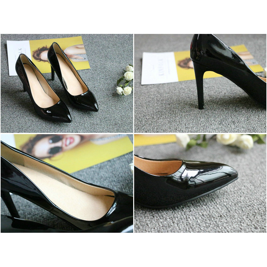 ESVEVA 2018 Women Pumps Slip on shallow Elegant Thin High Heels Pointed Toe Elegant Wedding Pumps Women Shoes Size 34-43 Multan
