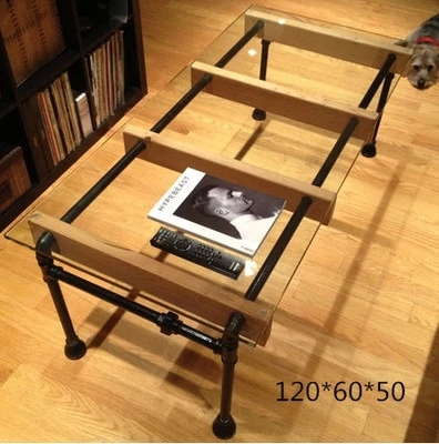 Etonnant Custom Wrought Iron Glass Coffee Table Minimalist Modern Creative Art Style  Cafe Tables Pipes Type