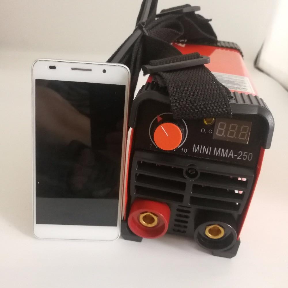 Mma handheld mini soldador elétrico 220 v 20-250a inversor ferramenta de soldagem a arco