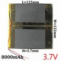 3 7V 8000mAh High Capacity Rechargeable Battery 37132125 Li Polymer Lithium Li Ion Battery For Power