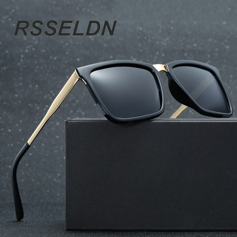 RSSELDN Brand Fashion <font><b>Black</b></font> Sunglasses Men <font><b>Polarized</b></font> Driving Sun <font><b>Glasses</b></font> Fashion Male Oculos UV400 Gafas Brand Eyewear Brand