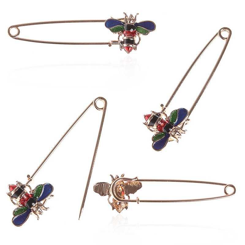 Капли глазурь пчелы ювелирные изделия 2018 Мода брошь Рождественские подарки горячие милые шпильки в виде пчелы кардиган led
