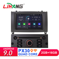 LJHANG Android 9.0 Car DVD Player For Peugeot 407 2004 2010 GPS Navi Multimedia Car Stereo WIFI Headunit AutoRadio Bluetooth IPS