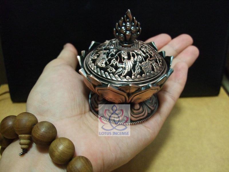 Тибетски лотус тамян горелка 7.8 * 7.2 * - Декор за дома - Снимка 4