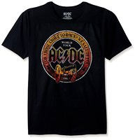 T Shits Printing Short Sleeve Casual O-Neck Cotton AC/DC Men's Music Short Sleeve Graphic T-Shirt