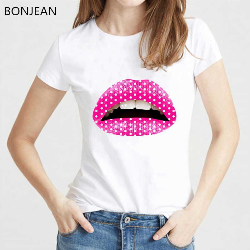 Rose Gay amour lesbien lèvres t-shirt femmes vogue rouge à lèvres maquillage t-shirt femme harajuku chemise de grande taille femmes t-shirt streetwear