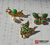 Anna and the king of the Malay butterfly butterfly brooch brooch pure copper