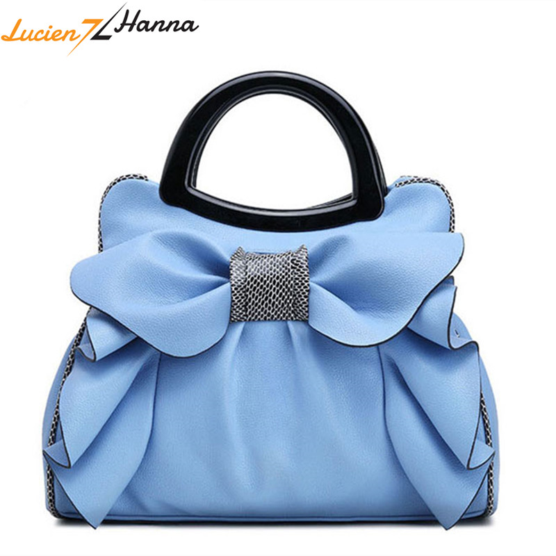 Top-Handle Bags Women Handbags Bow Flowers Girls Leather Bags Fashion Luxury Woman Tote Bag Bow Ladies Summer Shoulder Hand Bag цена 2017