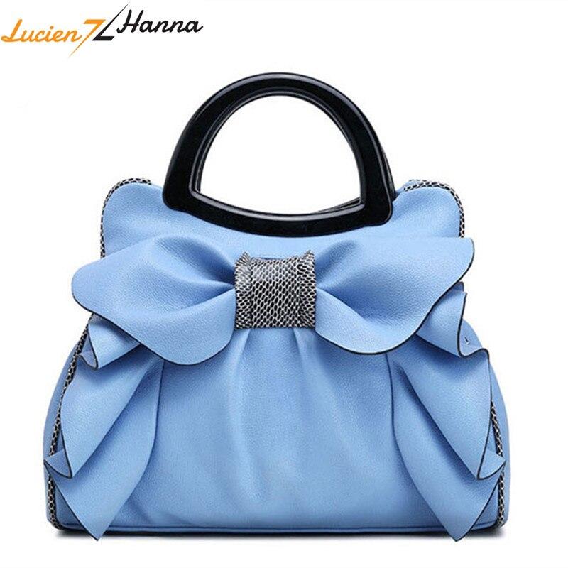 Top poignée sacs femmes sacs à main nœud fleurs filles sacs en cuir mode de luxe femme fourre-tout Bow dames d'été épaule sac à main