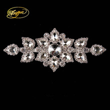 6.5 x14cm 1 PC dazzling glass material quality fake diamond crystal AB rhinestone decorative decal for the wedding dance