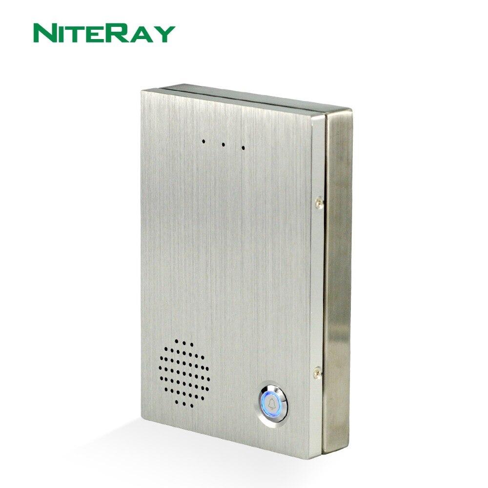 Audio SIP Porte Téléphone Sonnette IP SIP Interphone Système De Contrôle D'accès Porte Cloche Compatible Avec Astérisque/Alcatel/Avaya /Cisco PBX