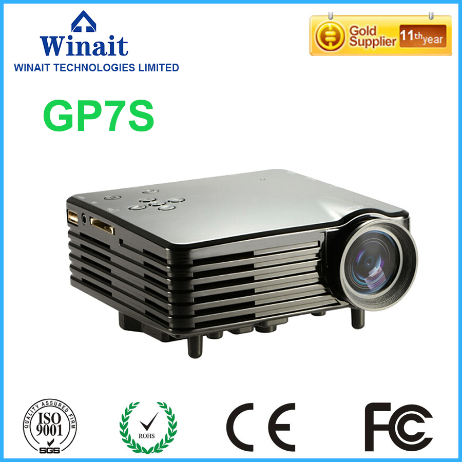 ФОТО High Quality 1080P 120 Lumens Portable Mini LED Projector for Home Theater BarcoMax GP7S Support HDMI Black free shipping