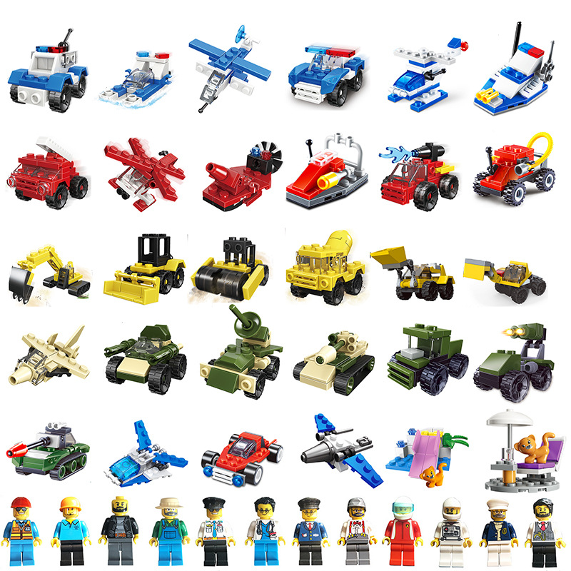yooap 5 sets of toys are randomly distributed in different styles. Childrens building blocks Intelligence