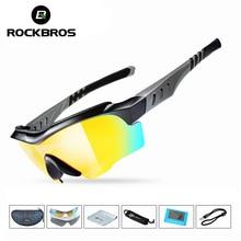 ROCKBROS Cycling Sunglasses Polarized UV400 Professional Cycling Riding 3 Lens E
