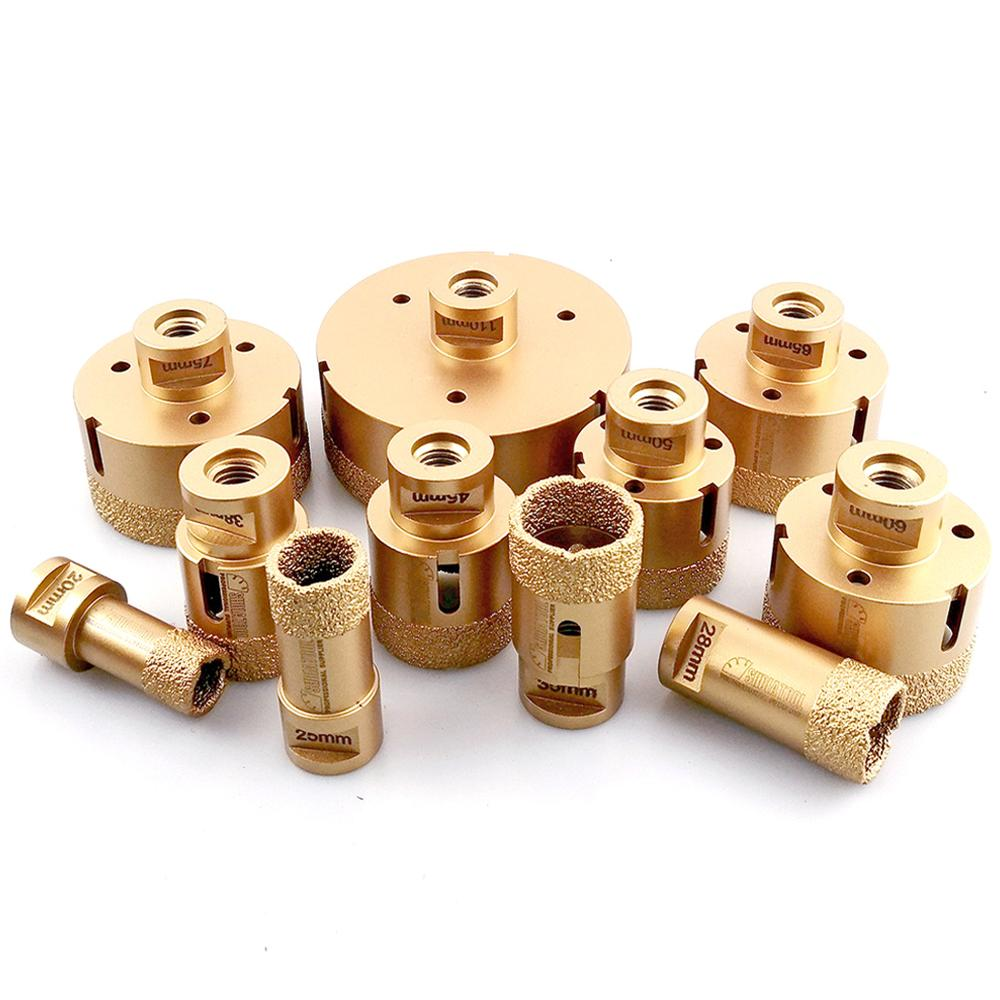 SHDIATOOL 1pc Diamond Vacuum Brazed Drilling Core Bits M14 Connection Drill Bits Hole Saw Diamond Height 15MM Dry/wet Drilling