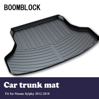 BOOMBLOCK Car Special Trunk Floor Foot Mat Pad Non-slip Dustproof Accessories For Nissan Sylphy B17 2018 2017 2015 2014-2012