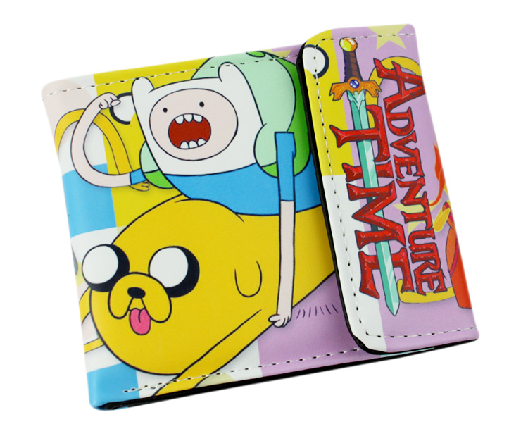 Japan Anime Adventure Time wallet Men&Women bifold purse 2 style japan anime love live wallet cosplay men women bifold coin purse