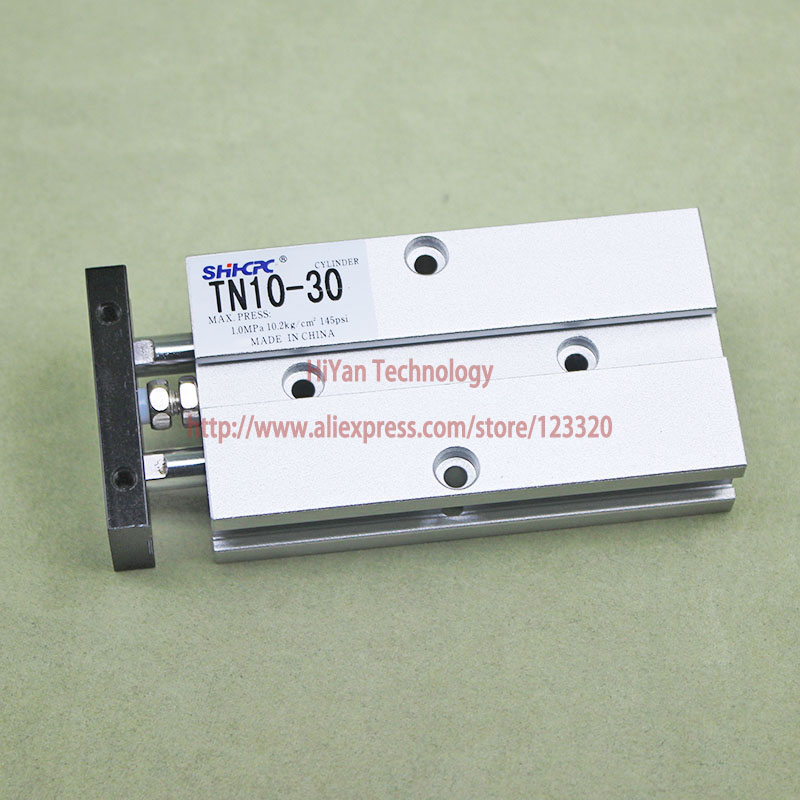 Pneumatic Cylinder TN Series TN10*30 Cylinder Standard Aluminium Alloy Two-Axis Double Pole new original pneumatic axis cylinder tr16x40s