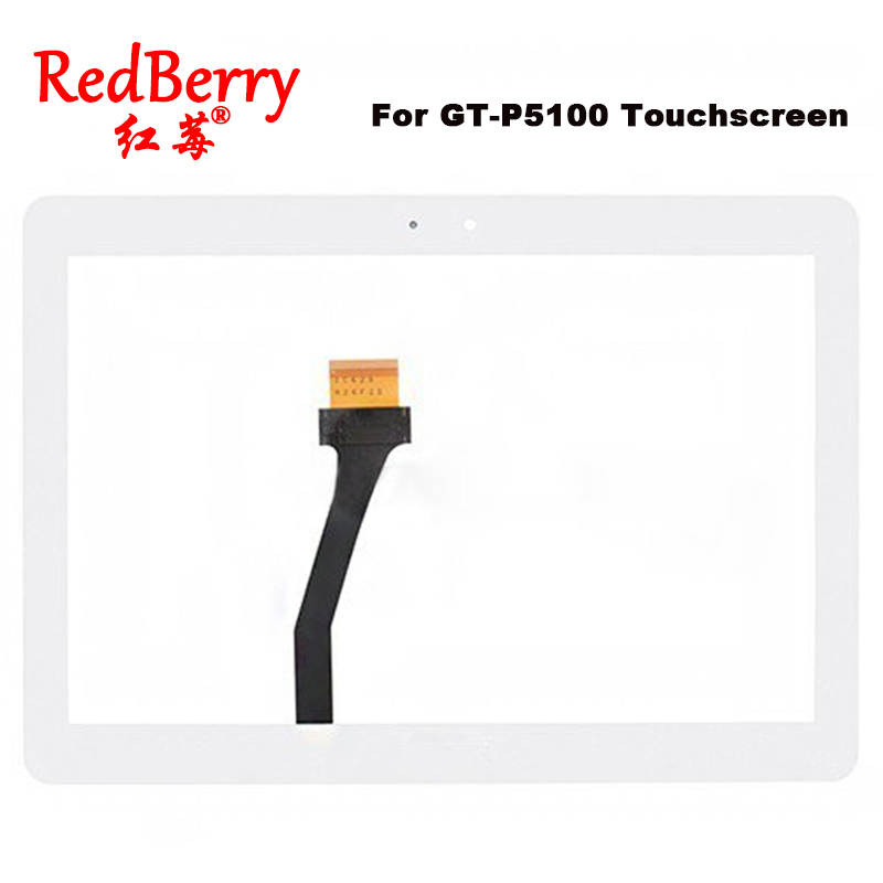 Redberry For Samsung Galaxy Tab 2 GT-P5100 P5100 P5110 Touch Screen Glass Digitizer Panel Replacement with Tape Free Ship replacement digitizer touch screen for dual sim samsung galaxy gt i9082 white